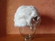 Новая белая норковая шапка